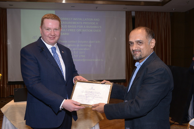 Giving special certificates to the Indian partners of Izolyator
