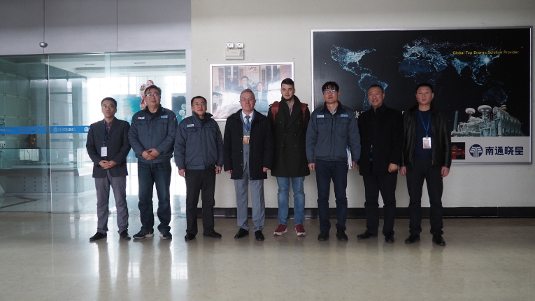 Meeting participants at Nantong Hyosung Transformer Co., Ltd.