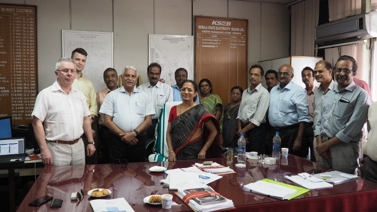 Attendees of Izolyator's presentation at KSEB, in the center — Ms. P. Vijayakumari, Director (Transmission & System Operation)