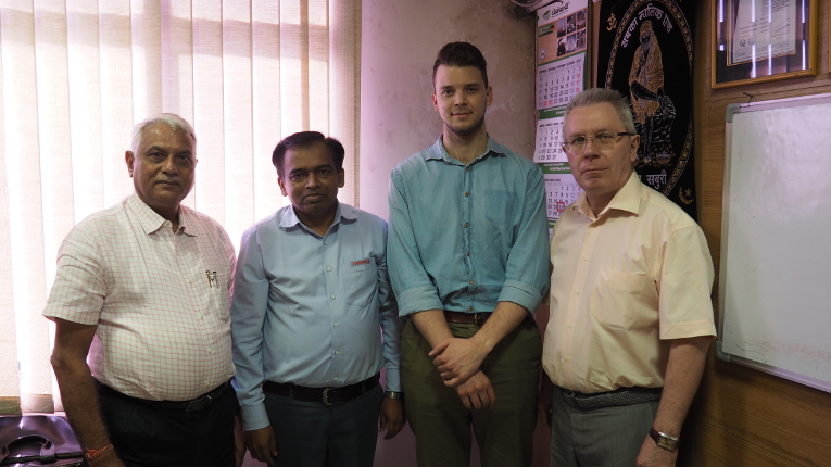 Meeting participants at TTDI, L-R: Dr. Ashok Singh, Atmaram Shinde, Deputy General Manager, Procurement Strategy, Dmitry Orekhov and Victor Kiryukhin