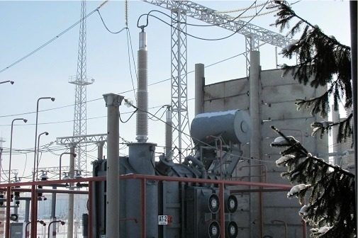 Transformer at FGC UES's substation, equipped with Izolyator high-voltage bushings with solid RIP insulation