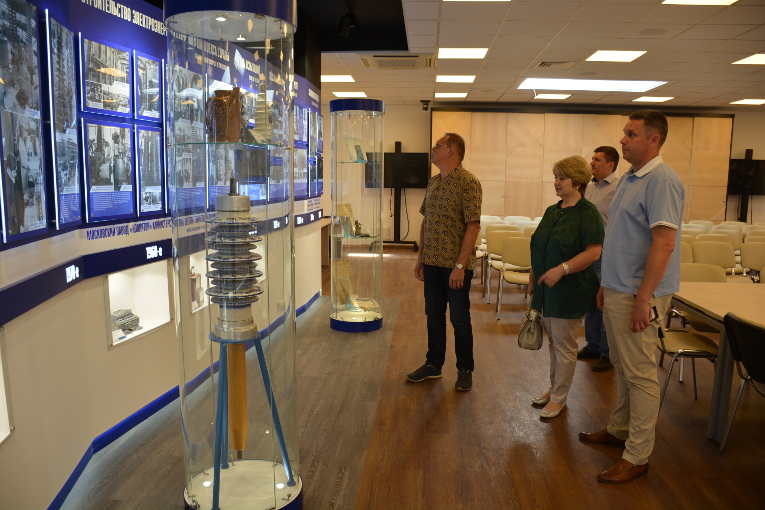Prima-Center representatives are getting familiar with the exposition of Izolyator plant museum