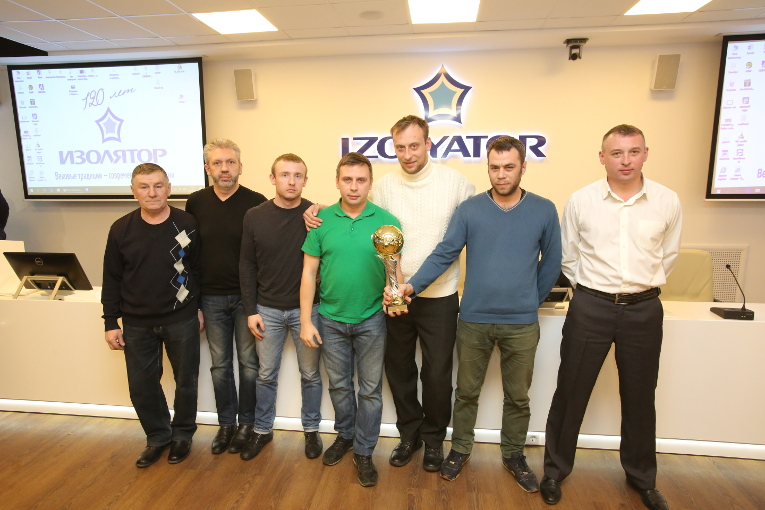 "Cup winners in the New Year Cup ""Snowman"" — the team of mechanical shop"