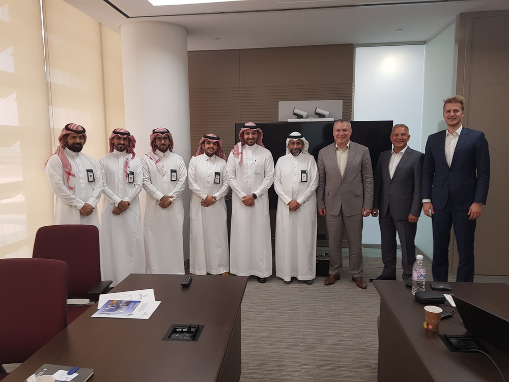 Participants of the business meeting in Saudi Electricity Company