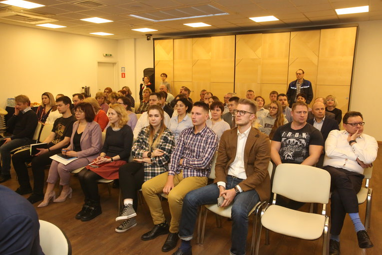 The audience of the meeting dedicated to reports of the Izolyator commercial service